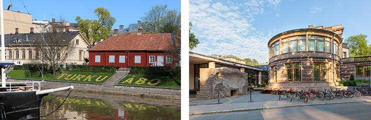 Aurajoki, Apteekkimuseo ja AboaVetus museo. Kuvaoikeudet: Visit Turku Samu Valleala & Visit Finland Vastavalo Timo Viitanen