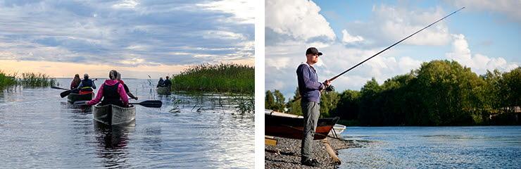 Melontaa ja kalastusta Oulussa. Kuvaoikeudet: Visit Oulu